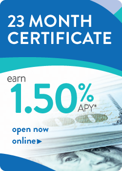 23 Month Cert Rate 1.50 APY