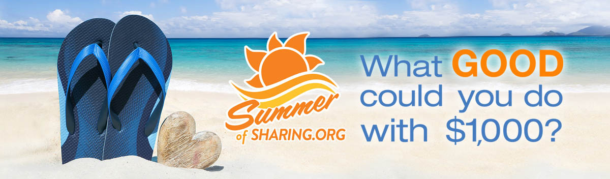 Summer of Sharing.org: what good could you do with $1000?